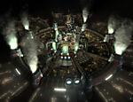 Midgar, cidade que serve como base da Shinra, megacorporação de energia que está destruindo o planeta