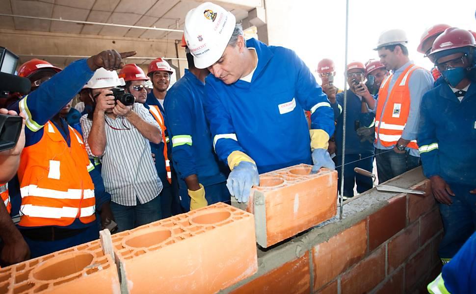 Obras do Itaquerão - Julho