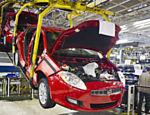 Linha de produção da Fiat