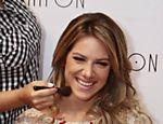 A atriz estava no Centro de Convenções do Barra Shopping, no Rio