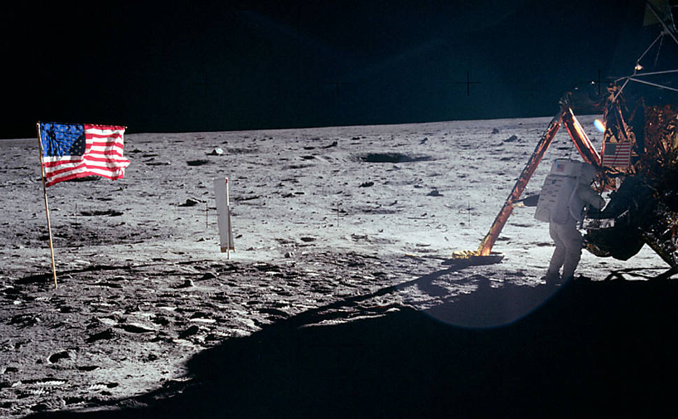 Neil Armstrong, primeiro homem a pisar na Lua