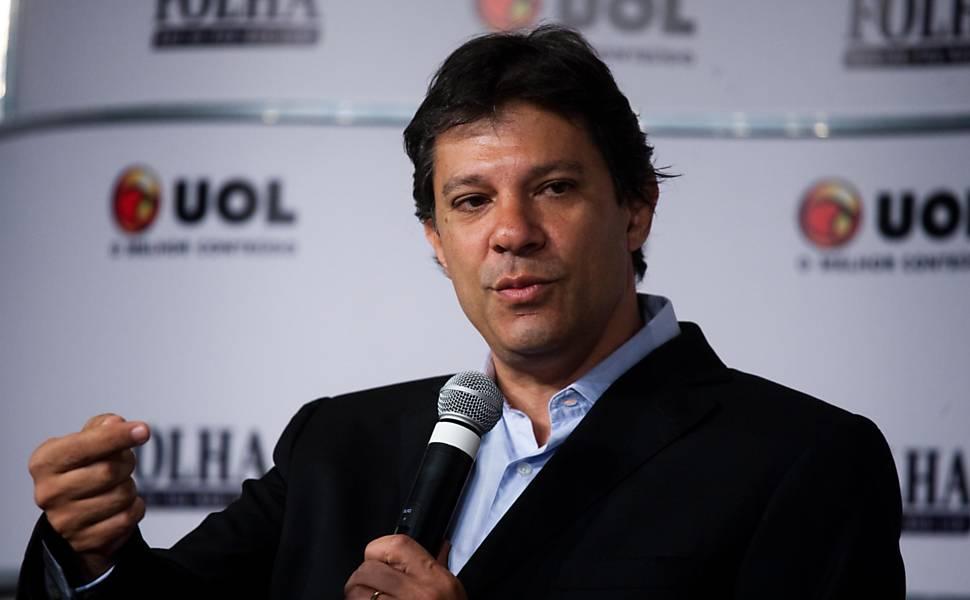 Fernando Haddad (PT) na sabatina Folha/UOL