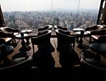 Vista do restaurante Terraço Itália, que completa 45 anos no próximo dia 29 de setembro