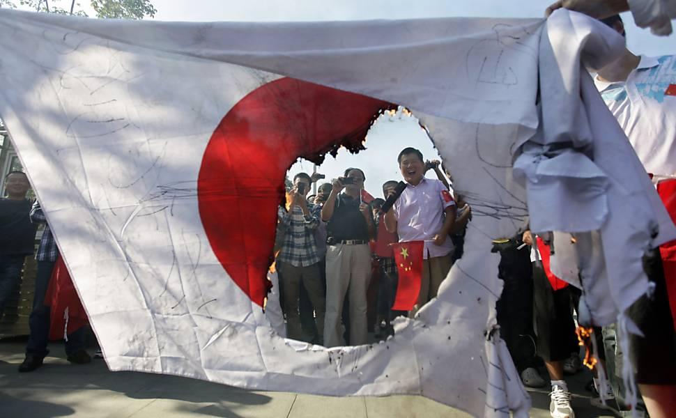 Protestos anti-Japão se espalham pela China