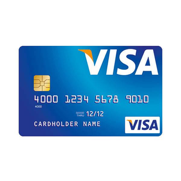 Linha do tempo dos cartões de crédito Visa