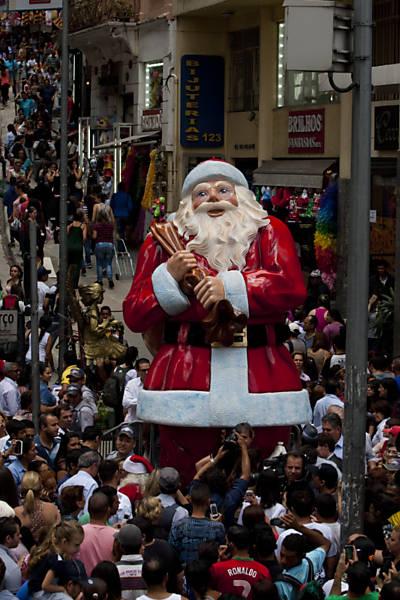 Decoração de Natal na 25 de março