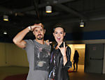 Paulo Vilhena e Thaila Ayala foram ao show da banda Kiss