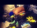Chris Brown na cama de Rihanna