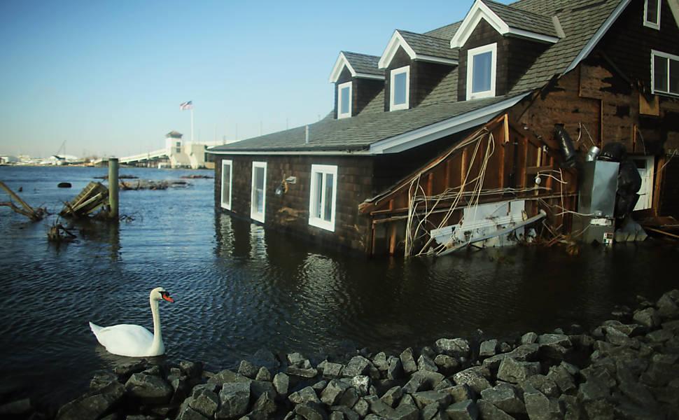 Imagens de New Jersey após furacão Sandy, em 2012
