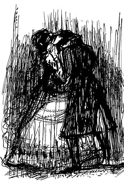 """Ilustrações de Darel para """"A aldeia..."""""""