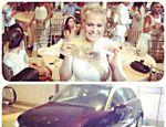 Sasha ganhou um carro importado em rifa