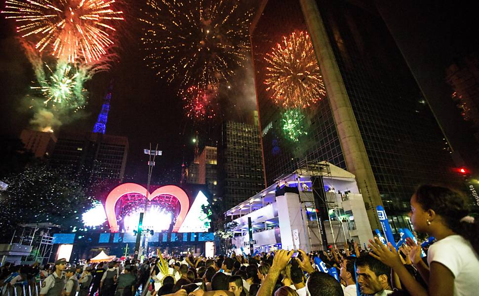 Ano Novo na avenida Paulista