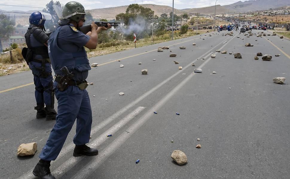 Agricultores em greve na África do Sul