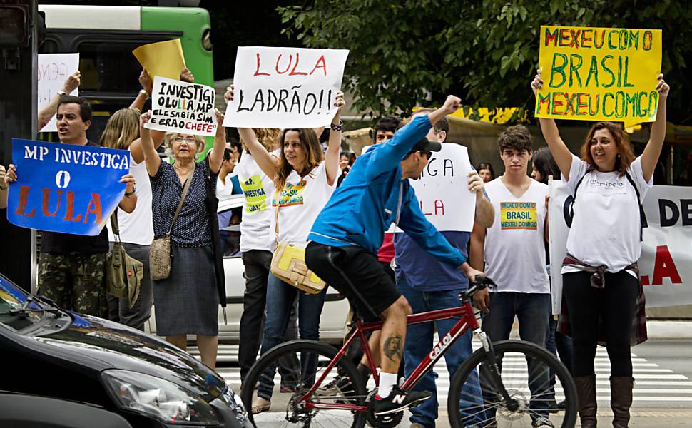 Protesto contra Lula