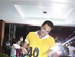 Latino comemora aniversário em uma casa de eventos em São Conrado, no Rio de Janeiro