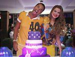 Latino e a ex, Rayanne Morais, no aniversário dele de 40 anos