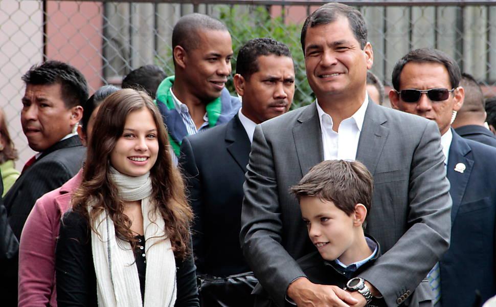 Rafael Correa nas eleições do Equador
