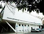 Fachada do museu Afro Brasil, no Parque do Ibirapuera, em São Paulo