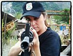 Giovanna Antonelli durante treinamento militar para Salve Jorge