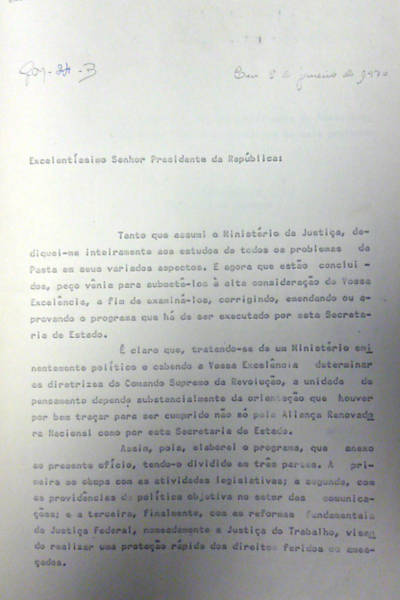 Arquivos da ditadura revelam 'guerra psicológica'
