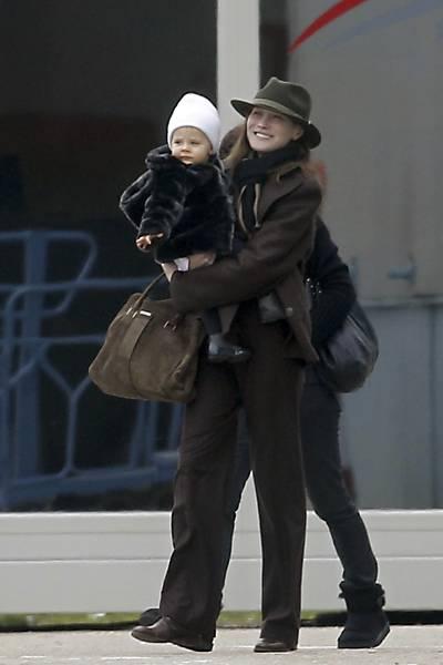 Carla Bruni, Nicolas Sarkozy e filha