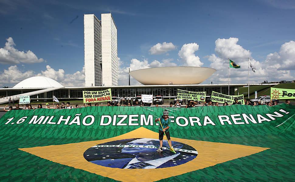 Manifestação contra Feliciano e Renan em Brasília