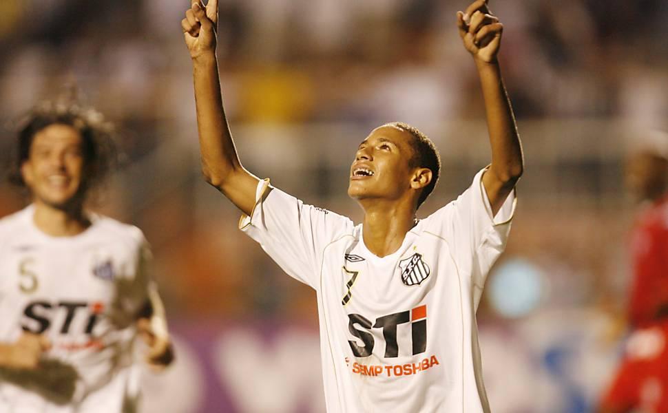 O primeiro gol de Neymar