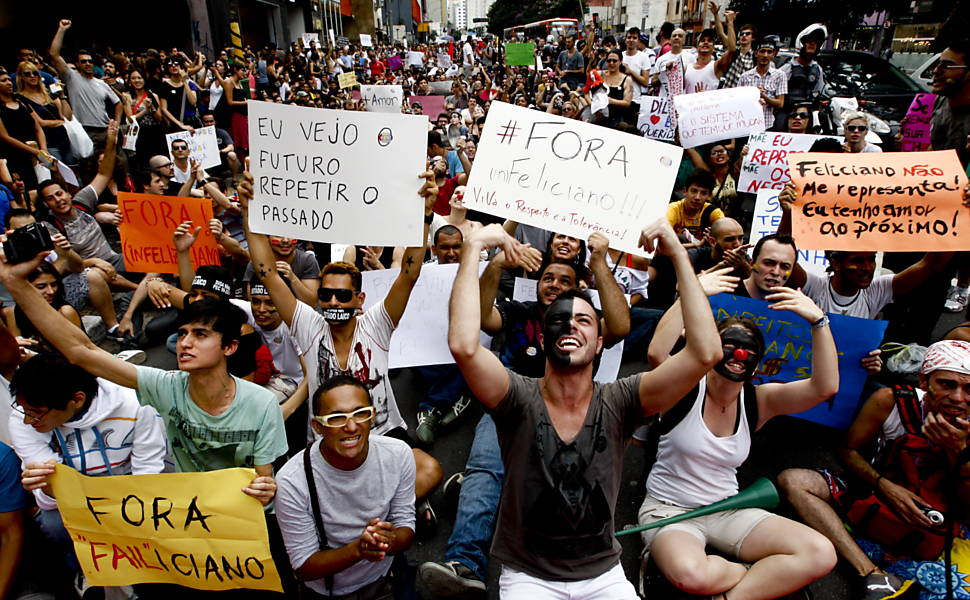 Protesto contra Marco Feliciano