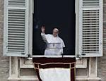 Papa Francisco na praça de São Pedro, no Vaticano, em 2013