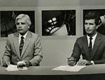 Cid Moreira e Celso Freitas na bancada