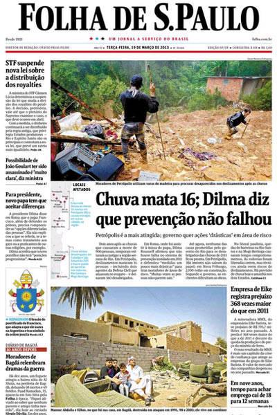 Tragédias da chuva, no Acervo Folha