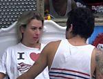 Fernanda e Nasser fazem as pazes após primeira parte da prova do líder