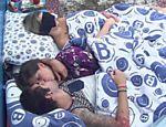 Nasser, Andressa e Fernanda dormem após almoço