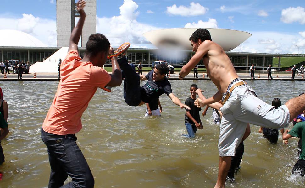 Estudantes protestam em Brasília