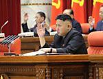 Líder norte-coreano durante encontro do Comitê Central do Partido dos Trabalhadores da Coreia, em 31 de março