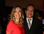 Luisa Mell e Gilberto Zaborowsky, empresário com quem está casada desde 2011, durante evento
