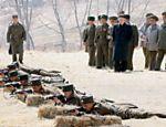 No dia 23 de março, Kim Jong-un esteve em unidade do exército, onde acompanhou treinamentos