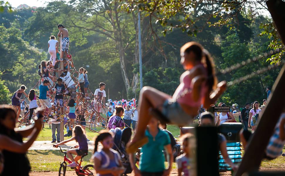 Movimentação no parque Ibirapuera