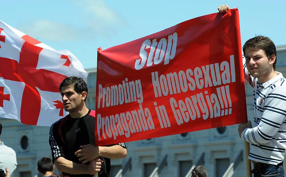 Dia internacional contra a homofobia na Geórgia