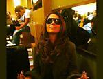 A Atriz Giovanna Antonelli aguarda zen por voo no aeroporto Santos Dumont, no Rio de Janeiro