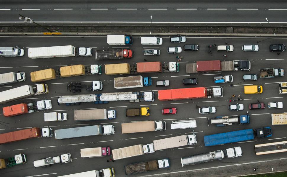 Trânsito no sistema Anchieta-Imigrantes