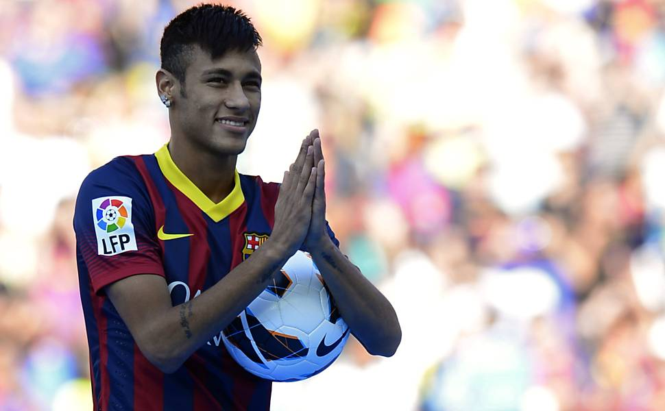 Apresentação de Neymar no Barcelona