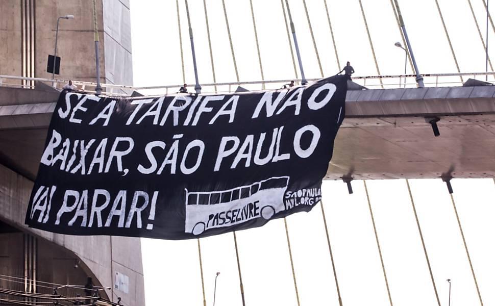 Manifestação contra aumento das tarifas