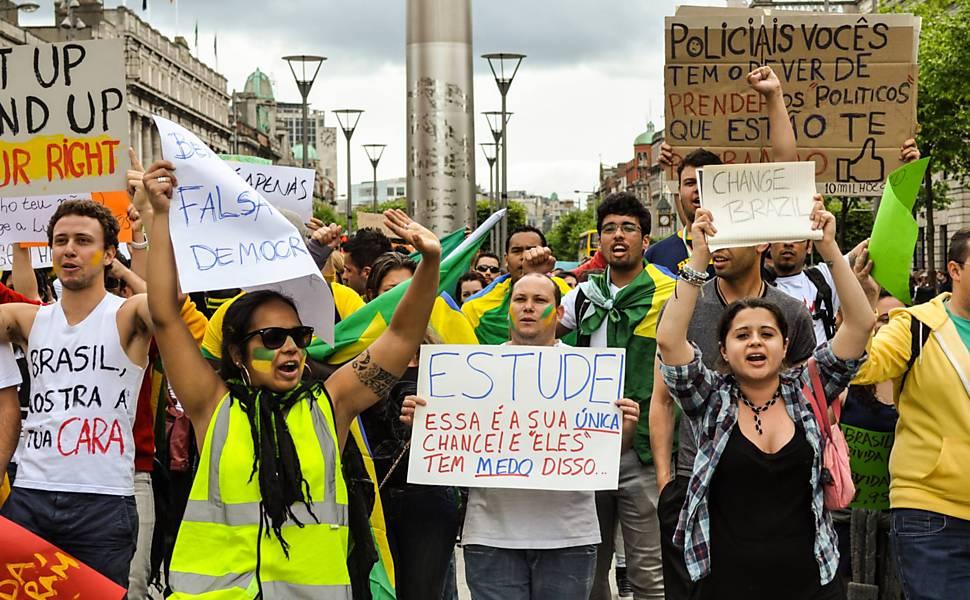 Protesto em Dublin