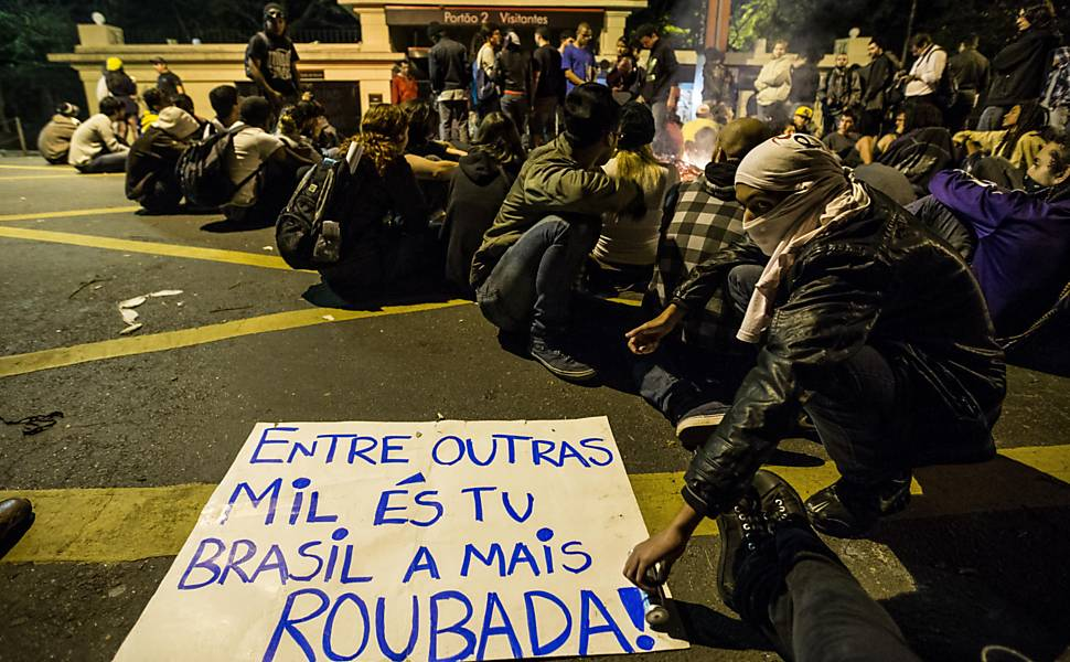 Quinto protesto contra o aumento das tarifas