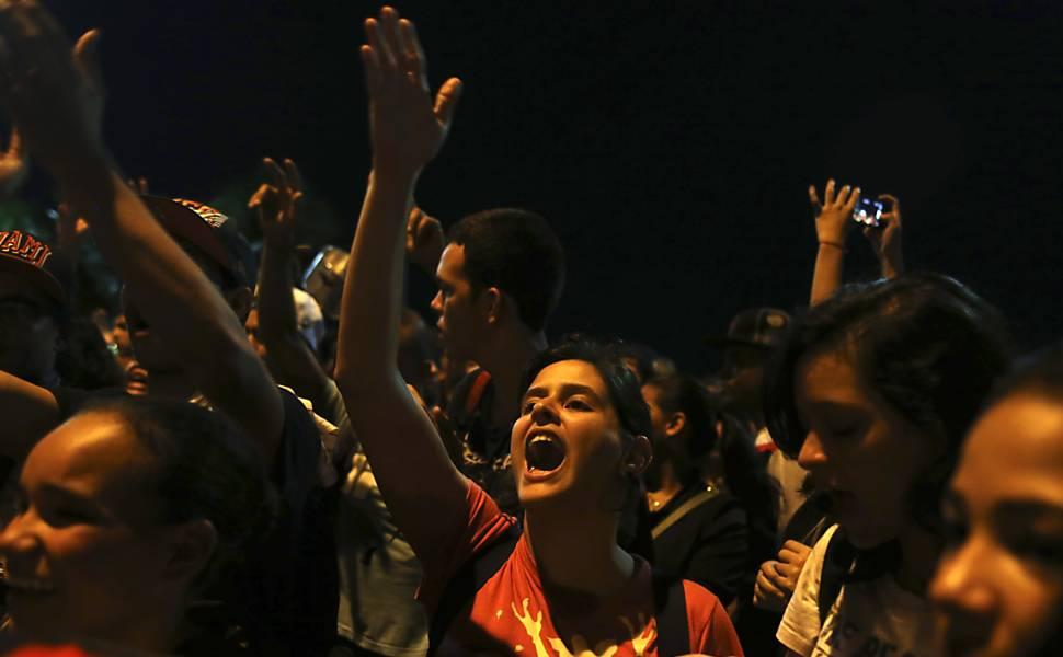 Protesto no Rio de Janeiro
