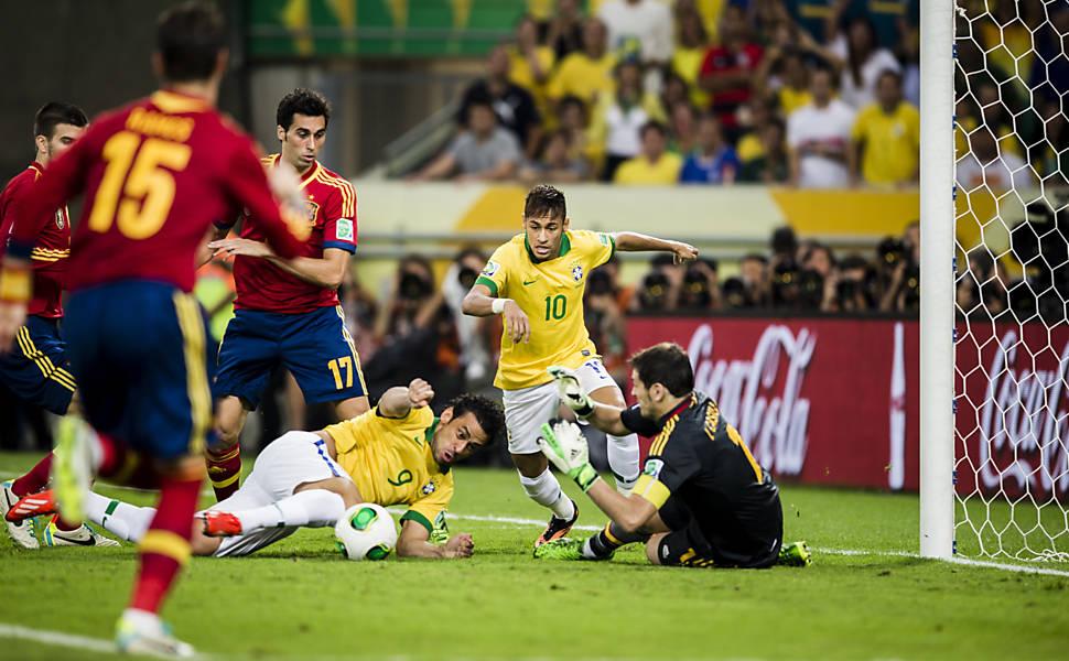 Brasil x Espanha em 10 fotos