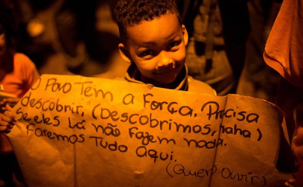 Manifestação dos moradores do Complexo da Maré
