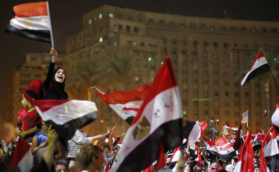 Protestos contra o presidente do Egito