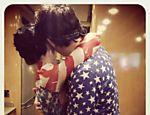 A cantora Katy Perry com John Mayer